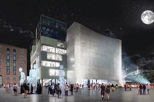 Artists impression of The Factory building at night